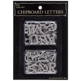 Raw Upper Case Serif Chipboard Letters - 3/4""
